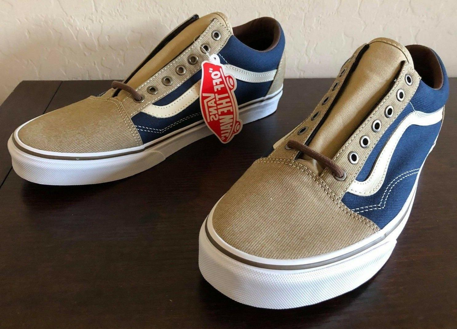 Vans OLD SKOOL CANVAS SKATE Shoes Size Men's 9.5 $65 DRESS B