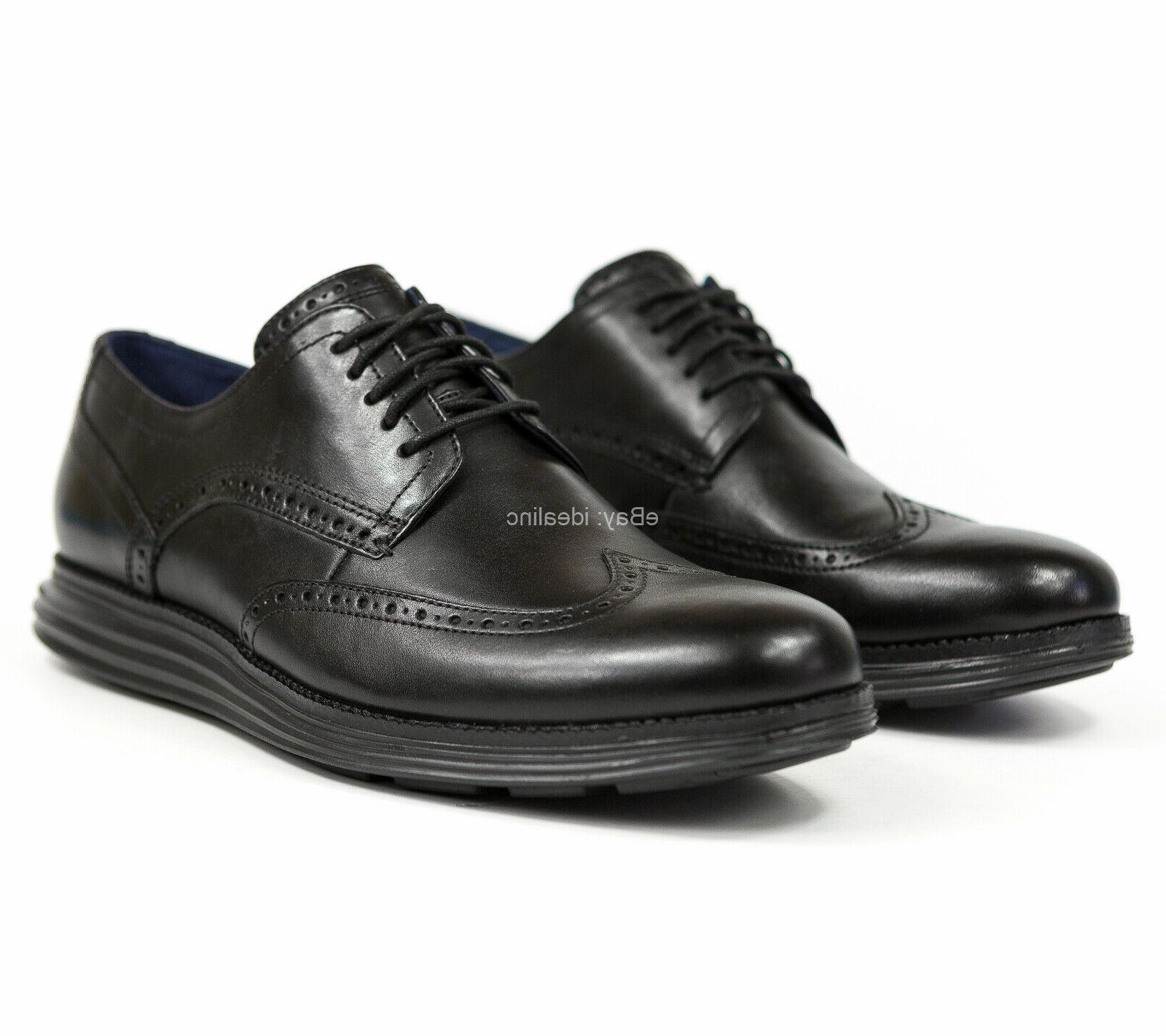 Cole Haan OriginalGrand Wingtip Oxford Black Leather Shoes C