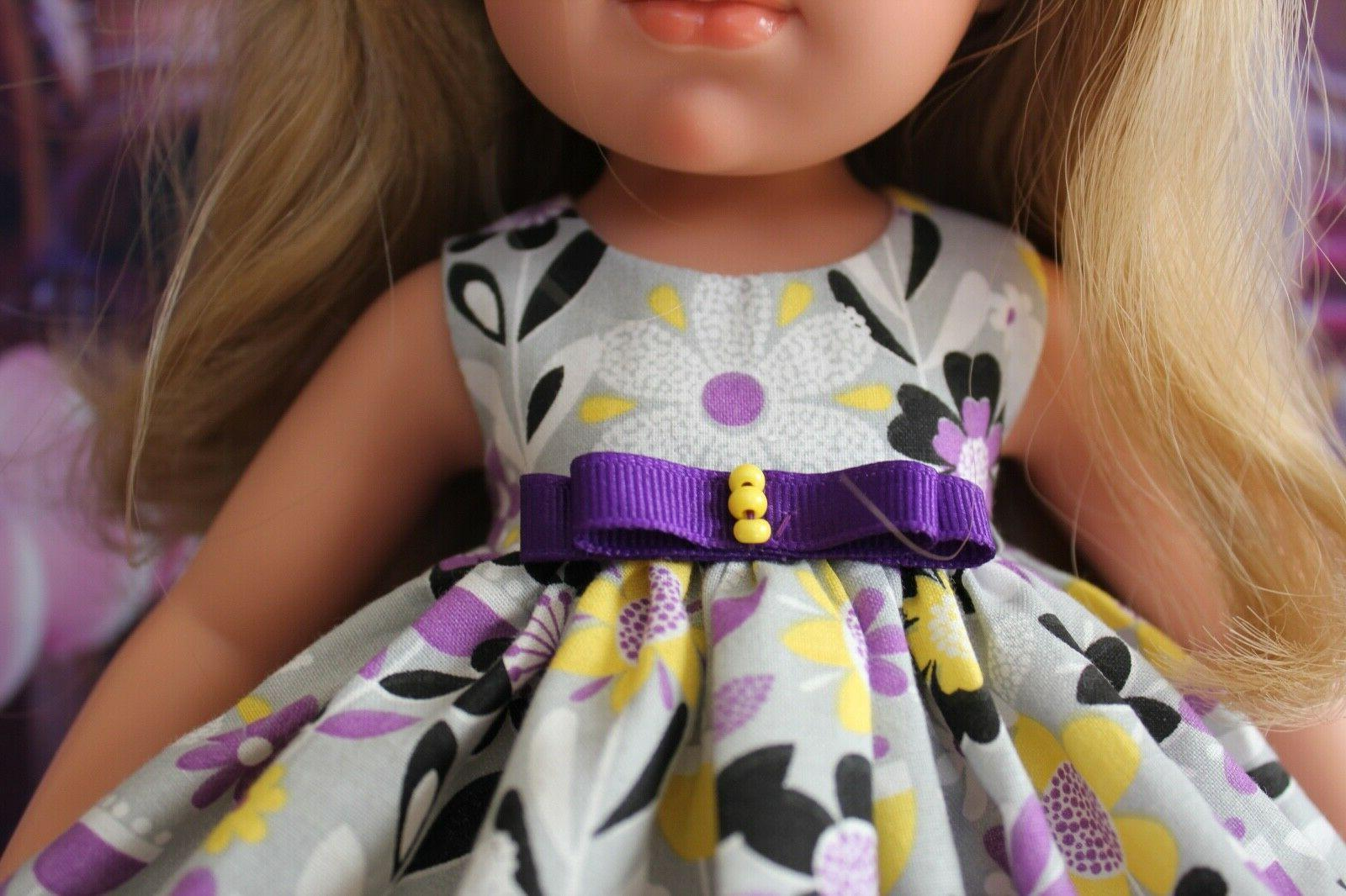 Outfit 16.5 Llorens Doll, Dress, Panties, & clip