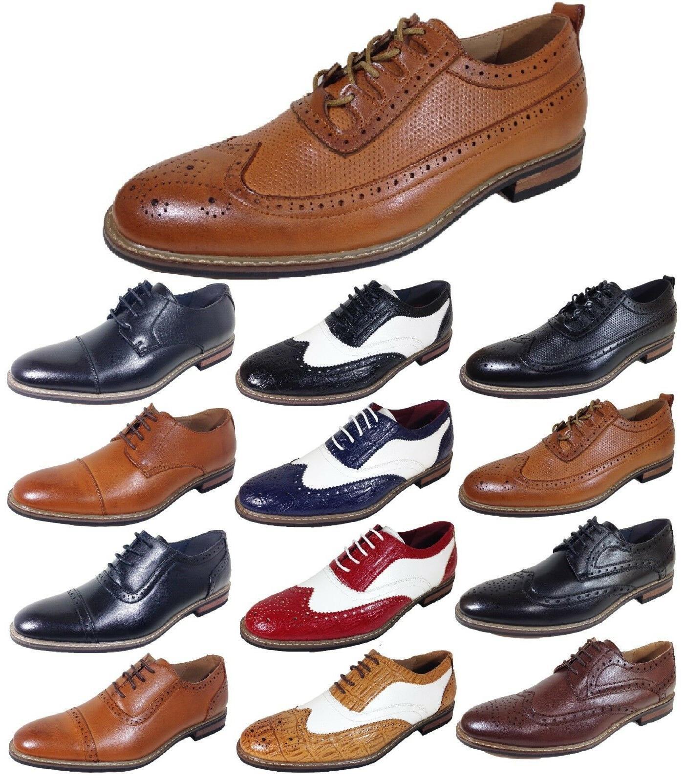 parrazo men dress shoes wingtip oxford leather