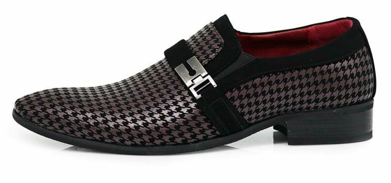 Enzo Plum05 Men'S Dress Loafers Elastic
