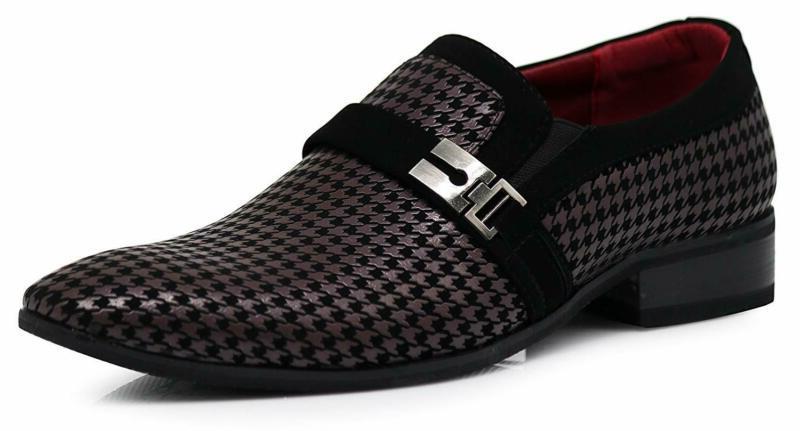 plum05 men s dress loafers elastic slip