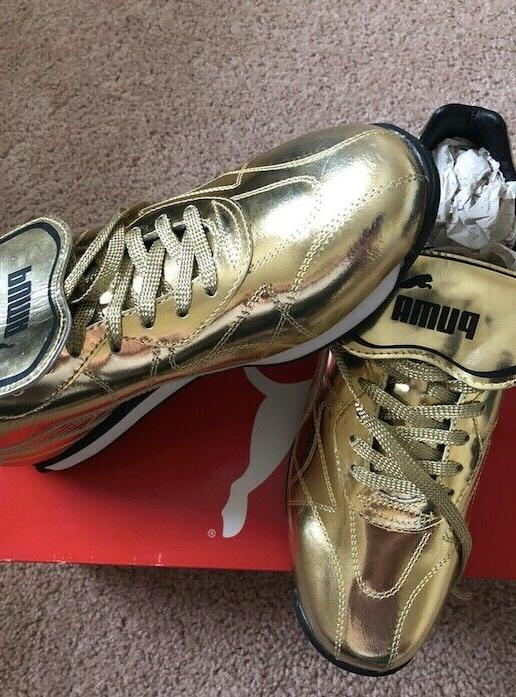 puma gold color snickers mens brand new