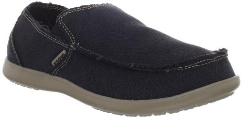 Mens Crocs Santa Cruz Black/Khaki Loafers 10 M, Black/Khaki