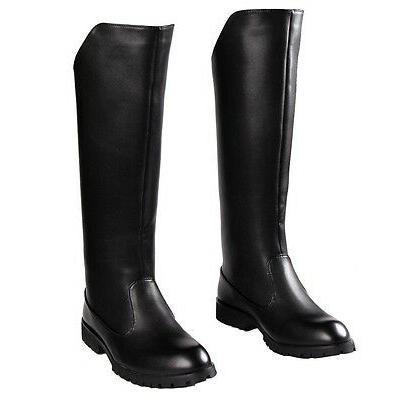 Fulinken Size 5-11 Black Fashion Leather Motorcycle Dress Ta