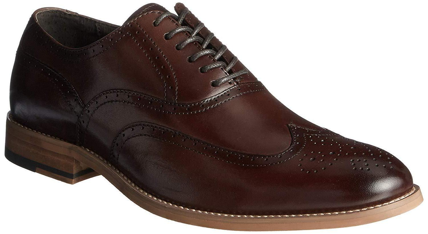 stacy adams men s dunbar wingtip lace