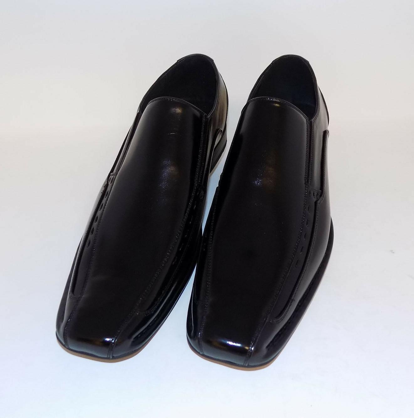 Stacy LTD By Stacy Adams Torino Mens Black Slip On Loafers D