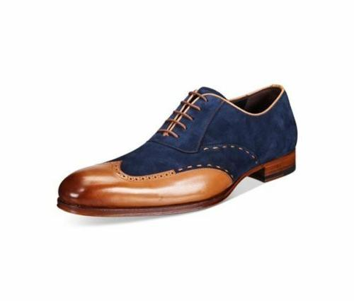 suede and genuine formal leather dress shoes