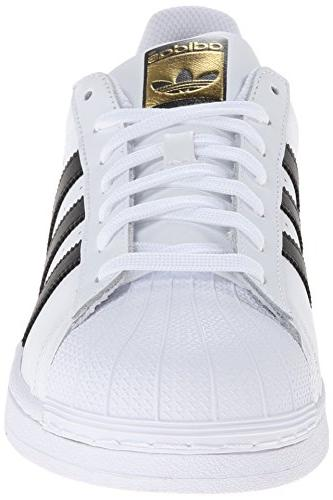 adidas Casual White/Core Black/White, 12.5 US