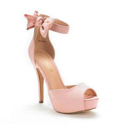 DREAM PAIRS Wedding Dress High Heeled Sandals