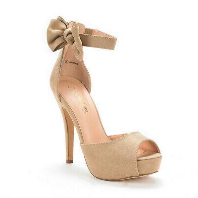 DREAM PAIRS Wedding Heeled Sandals Pump