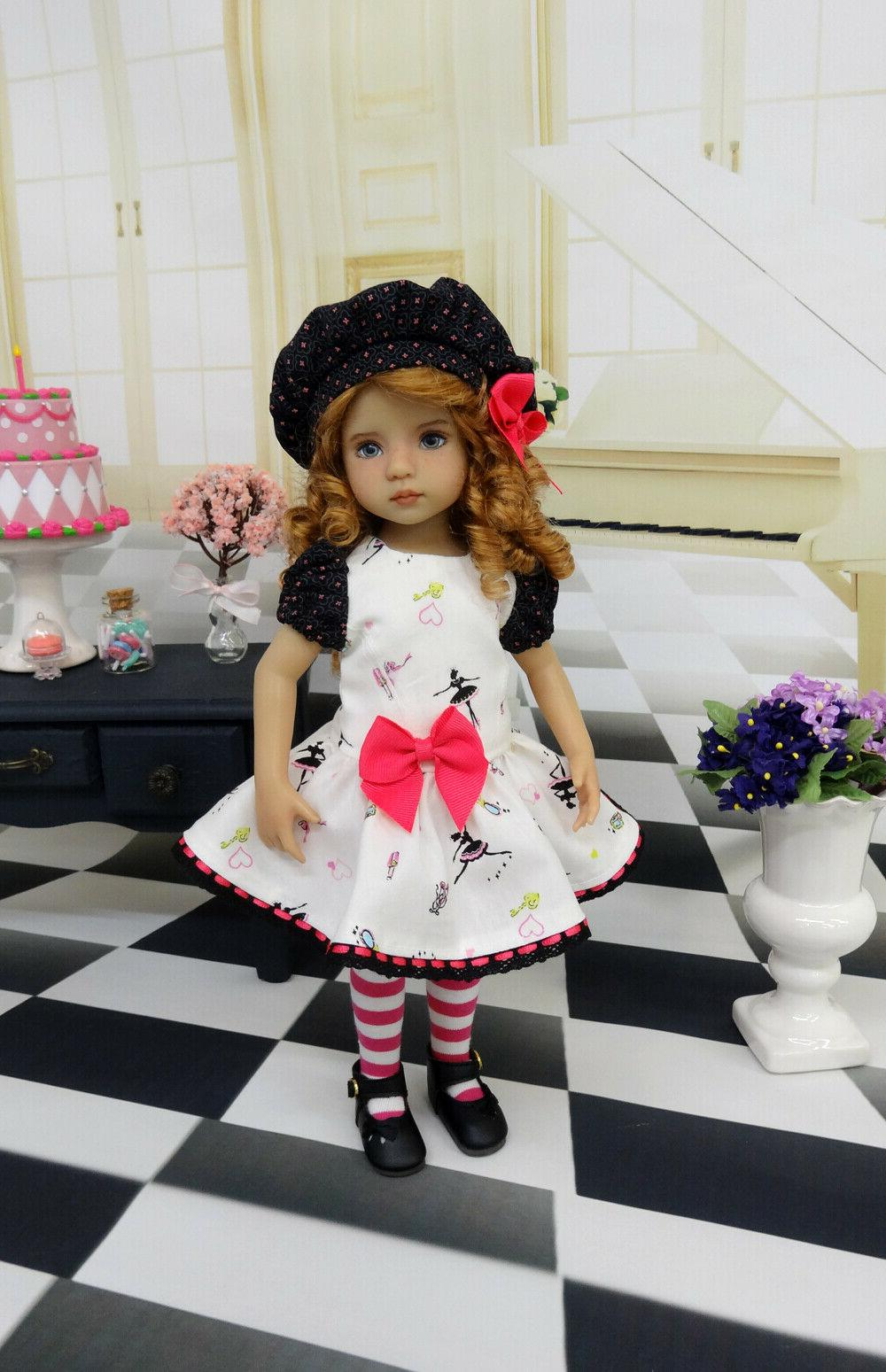 Tiny hat, shoes for Effner Little Darling Doll
