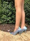 Transparent Clear Lucite Pointed Pointy Toe Stiletto High He