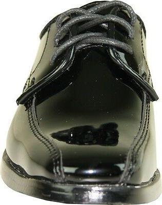VANGELO/TUX-5 Free Dress Shoes Black Patent Size