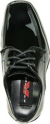 VANGELO/TUX-5 Wrinkle Free Mens Dress Black Patent
