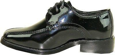 VANGELO/TUX-5 Dress Bicycle Toe Black Patent