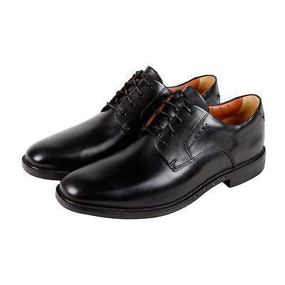 Clarks Unbizley Plain Mens Black Leather Casual Dress Lace U