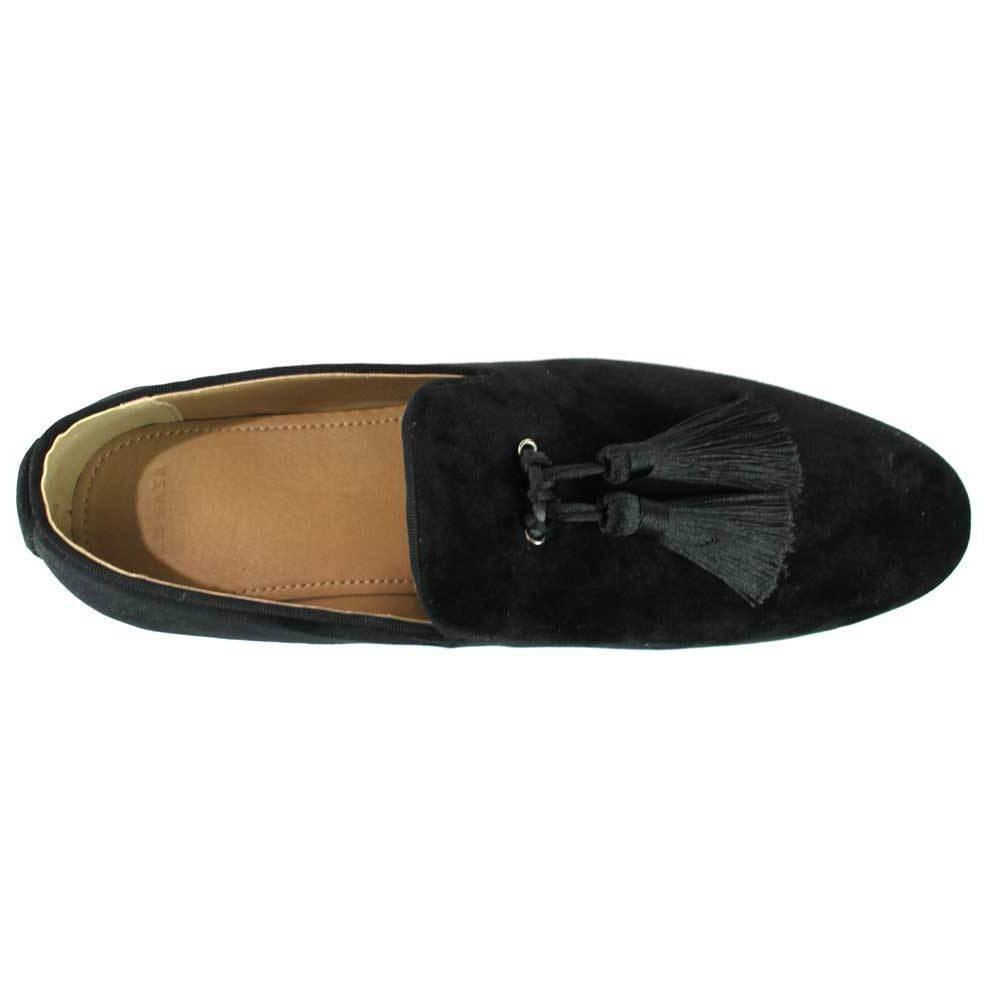 Velvet Loafers Handmade Tassel Modern Mens Dress By AZAR