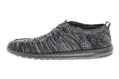 Hey Dude Wally 111274912 Mens Black Casual Slip On Loafers Shoes