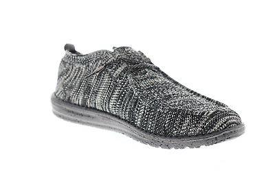 Hey Dude Knit 111274912 Black Canvas Casual On Shoes