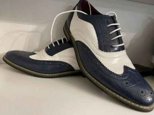 Enzo Shoes Mens 9 1/2 UV Signature White. Condition.