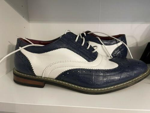 Enzo Shoes Mens Signature Navy Great Condition.