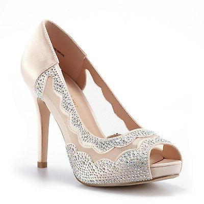 DREAM PAIRS Divine-01 Peep High Heels Pump Sandals