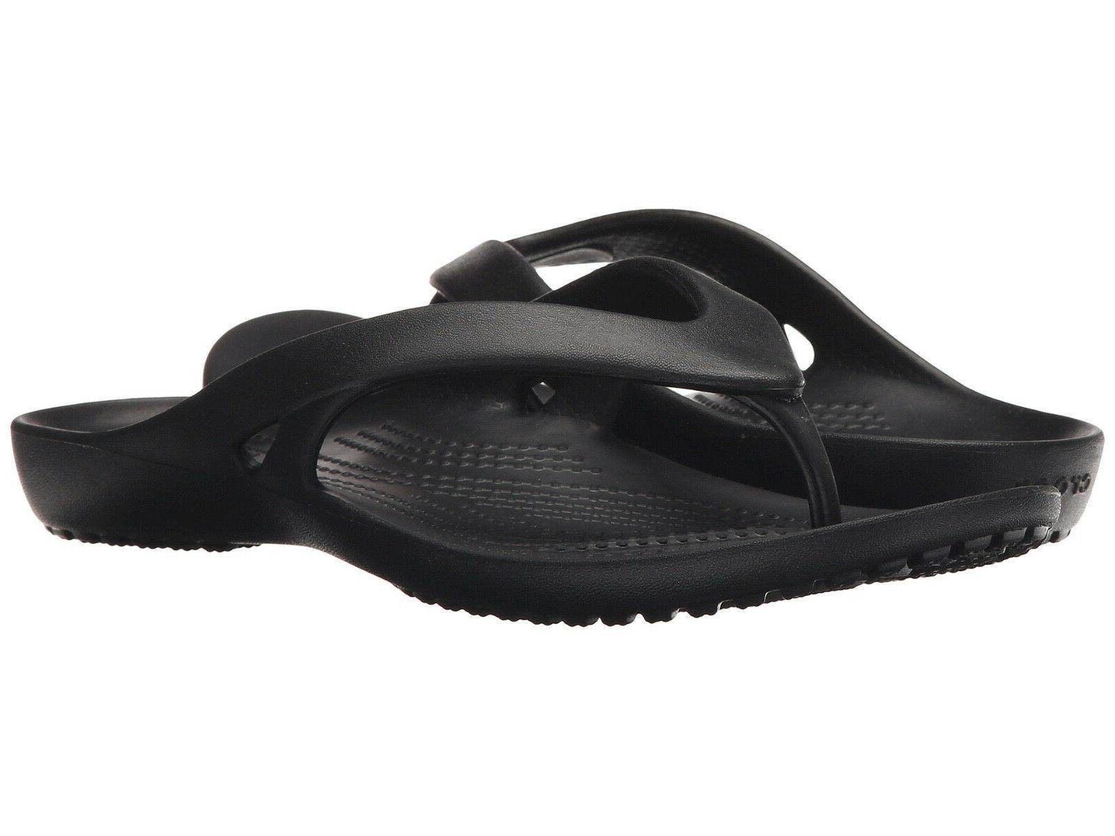 Women Crocs Kadee II Flip Flop Sandal 202492-001 Black 100%