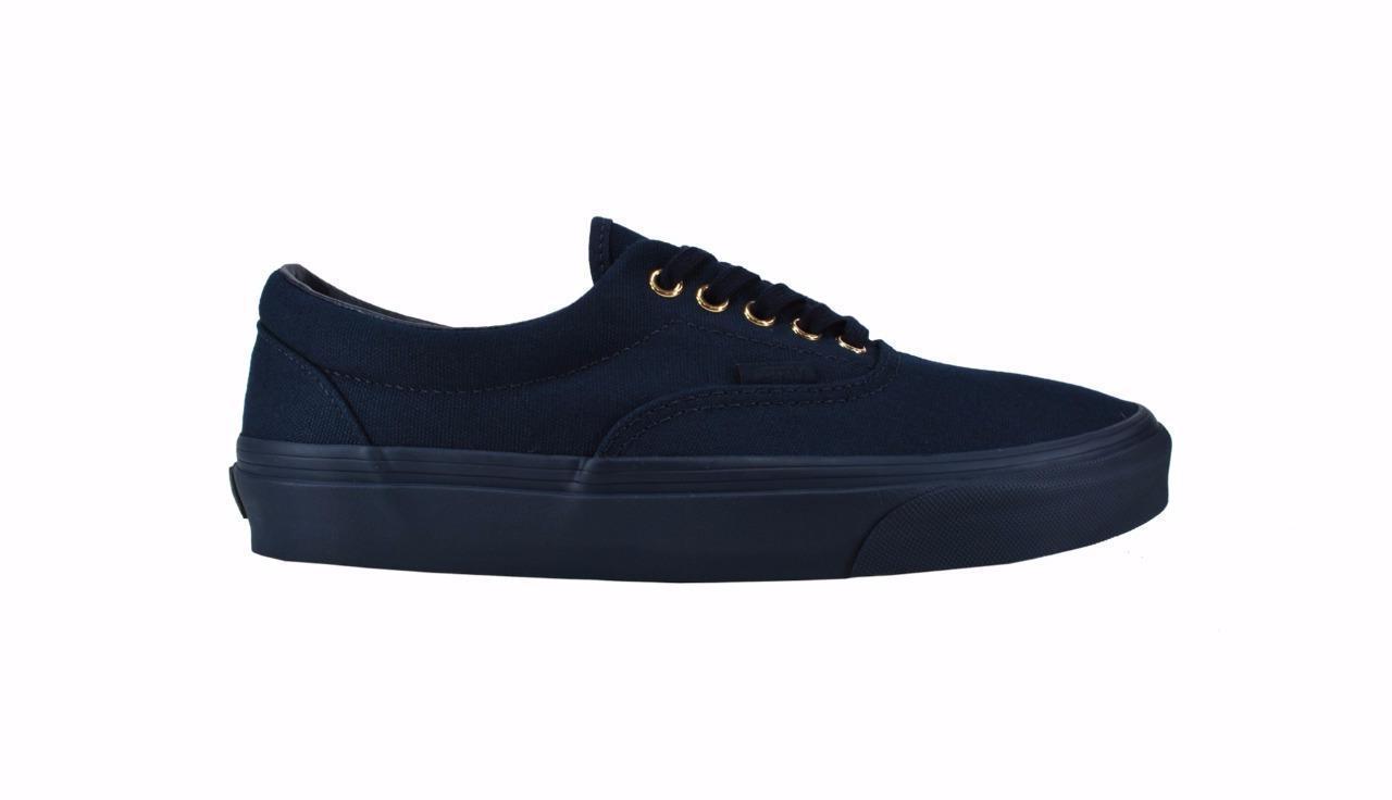 Vans Women Men Unisex Shoes Era Dress Blues Gold Mono Sneake