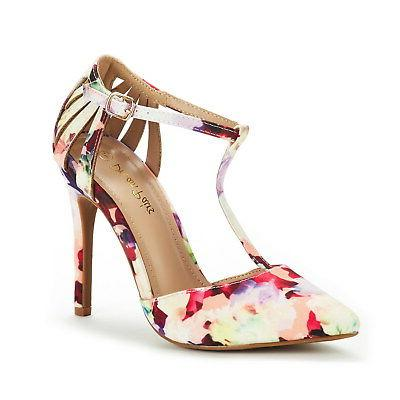 DREAM PAIRS Women Dress High Heel Toe Wedding