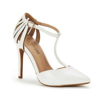 DREAM PAIRS Dress High Heel Toe Wedding Pumps
