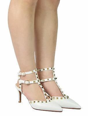 DREAM PAIRS Women Dress Mid Heels Pumps