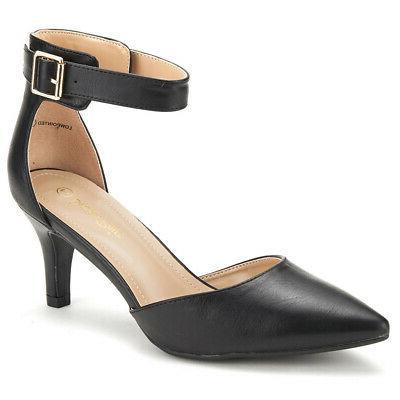 DREAM Women Strap Toe Stilettos Wedding Party Shoes