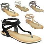 women s gladiator sandals braided t strap
