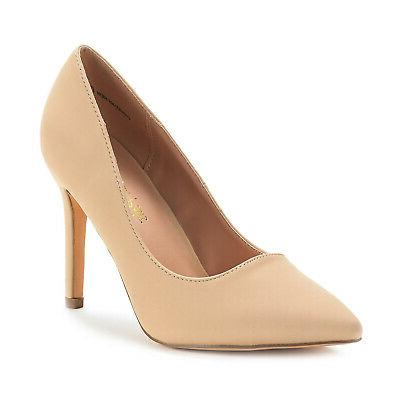 DREAM PAIRS Ladies Pointed High Shoes