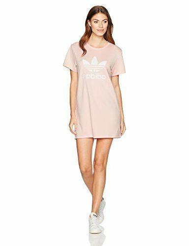 women s trefoil tee dress icey pink
