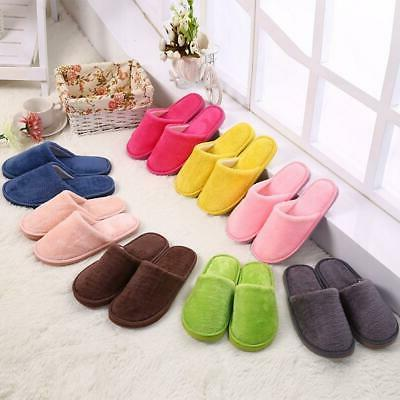 women warm home plush soft slippers indoors