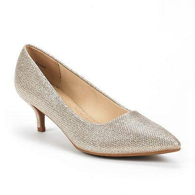 DREAM PAIRS Low Heel Pointed Toe Dress Pump Shoes