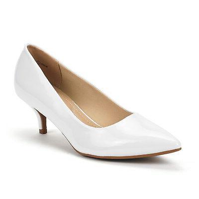 DREAM PAIRS Womens Low Heel Toe Dress Wedding Shoes