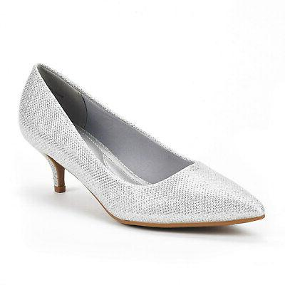 DREAM Heel Pointed Toe Wedding Party Slip Pump Shoes