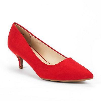 DREAM PAIRS MODA Low Heel Toe Dress Wedding Shoes