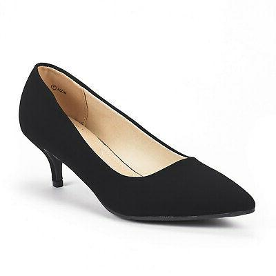 womens moda low heel d orsay pointed