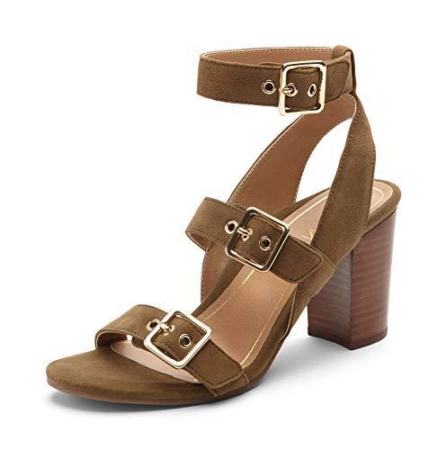 womens perk carmel backstrap heel ladies strappy