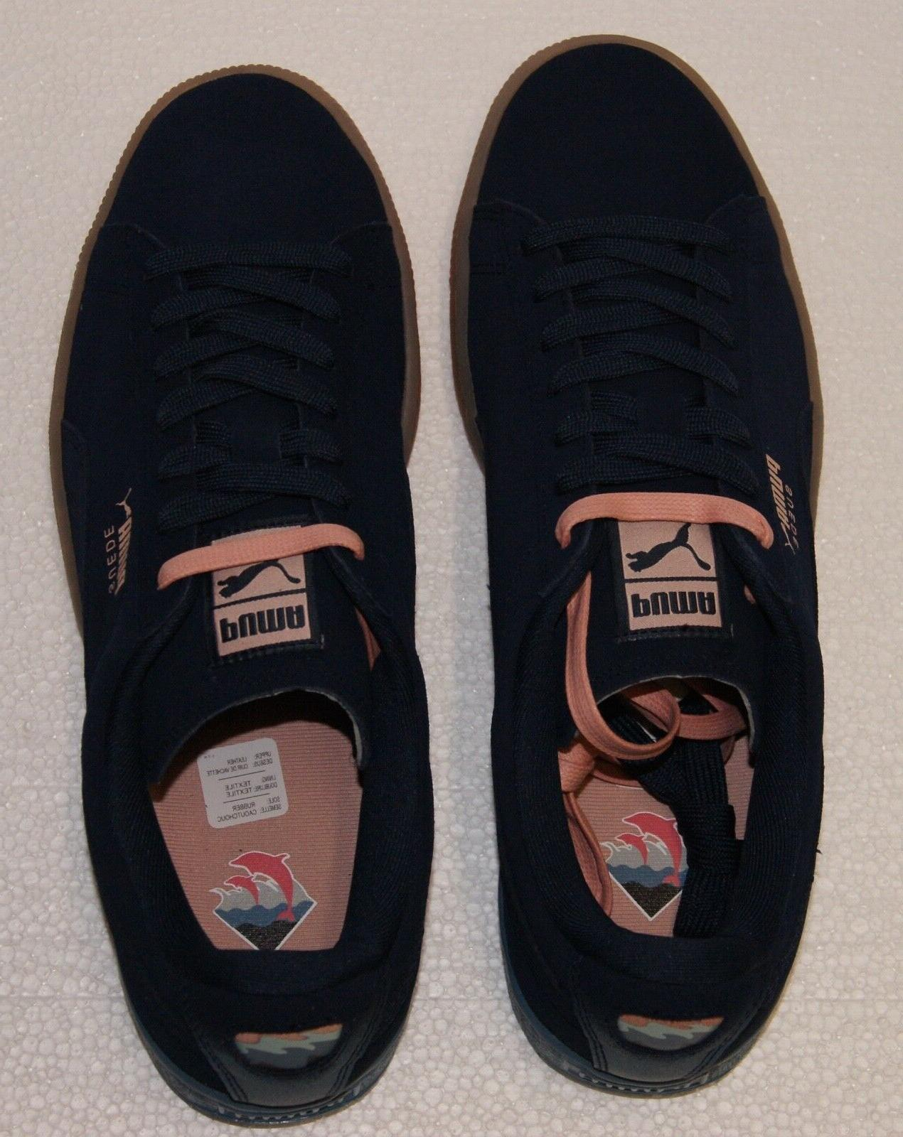 Puma Suede Classic Blue Coral Pink BRAND NEW
