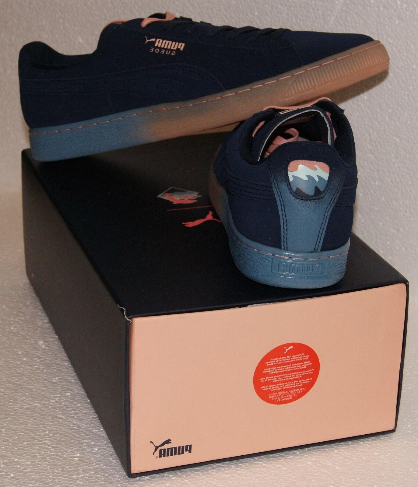 Puma Pink Dolphin Suede Blue Coral BRAND NEW