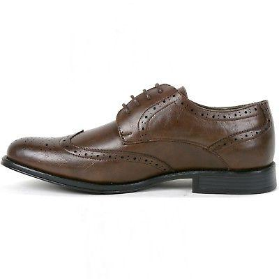 Alpine Swiss Zurich Men's Oxfords Medallion Tip Lace