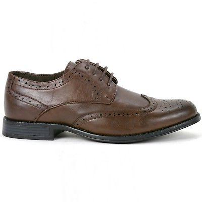 Alpine Men's Oxfords Brogue Wing Tip Shoes