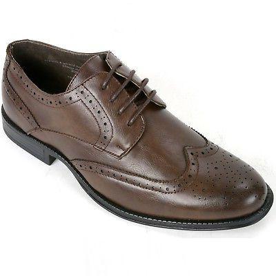 Alpine Men's Oxfords Brogue Tip Up Shoes