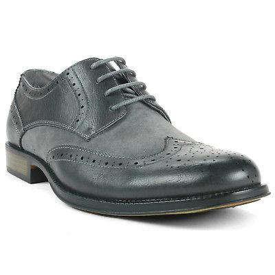 Alpine Swiss Zurich Wing Dress Shoes Two Tone Up Oxfords