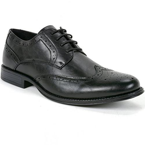 zurich mens dress shoes brogue wing tip